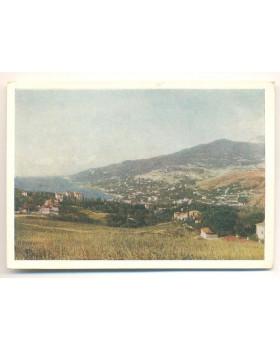 Крим. Ялта. Вид на Ялту з Сiмферопольської дороги
