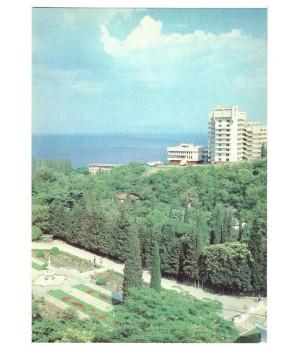 """Крым. Алушта. Вид на дом отдыха """"Дубна"""""""