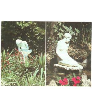 """Уголок Верхнего парка с декоративной скульптурой """"Мальчик, вынимающий занозу"""""""