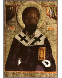 Иконостас. Образ святителя Николая. 1916 г. Открытка