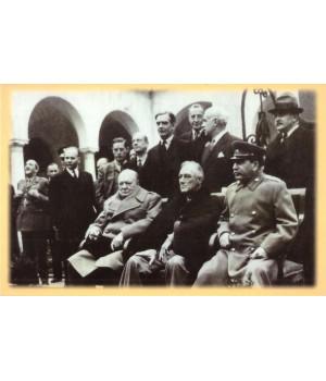 И. Сталин, Ф. Рузвельт и У. Черчилль в Ливадийском дворце