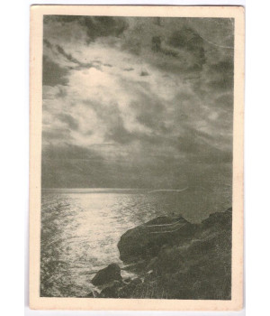 Ночь в Крыму. Скала Айвазовского в Алупке