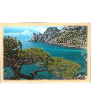 Бухта Голубая и гора Караул-Оба