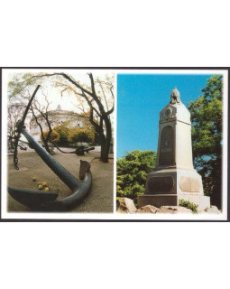 Памятник воинам 4-го бастиона и выставка якорей на Историческом бульваре