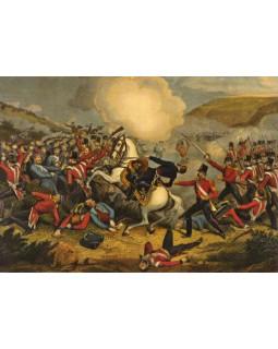 Смерть генерала Кэткарта в Инкерманском сражении. 1854