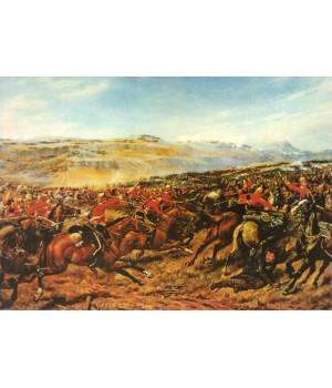 Г.Гайлос. Атака тяжелой бригады в Балаклавском сражении 13 октября 1854 г.