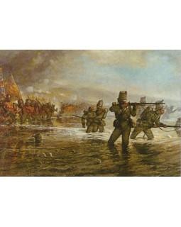 Льюис Джонс. Второй пехотный батальон готовится форсировать реку Альма