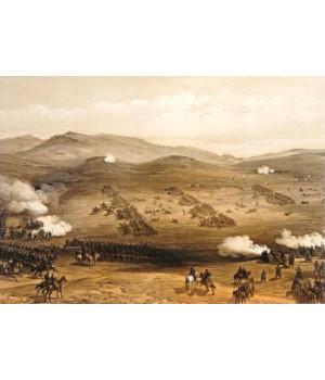 Уильям Симпсон. Атака легкой кавалерии 25 октября 1854 года