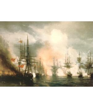 И.К. Айвазовский. Синопский бой днем. 1853