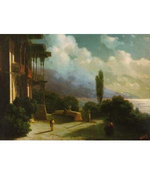 Окрестности Ялты ночью. 1866 г.
