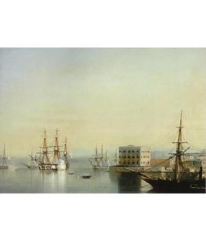 Севастопольский рейд. 1852 г.