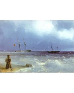 И.К. Айвазовский. Морской берег. 1840 г.