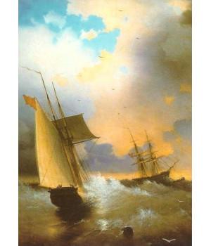 И.К. Айвазовский. Парусник. 1859 г.