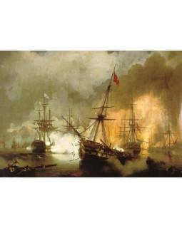 Морское сражение при Наварине 2 октября 1827 года. 1846 г.