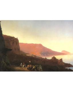 И.К. Айвазовский. Вечер в Крыму. Ялта. 1848 г.