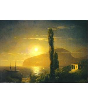 И.К. Айвазовский. Лунная ночь в Крыму. 1859 г.