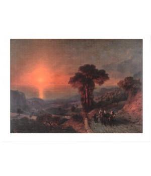 И.К. Айвазовский. Вид моря с гор. Крым. 1864