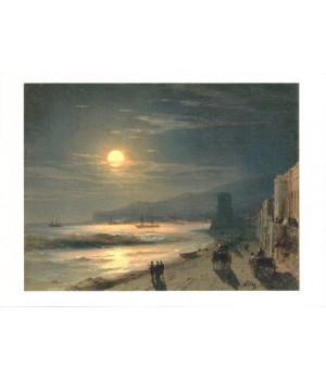 И.К. Айвазовский. Лунная ночь. Берег моря. 1885