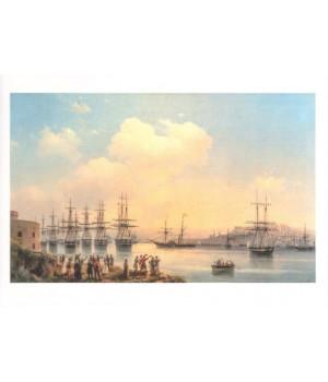 Русская эскадра на Севастопольском рейде. 1846