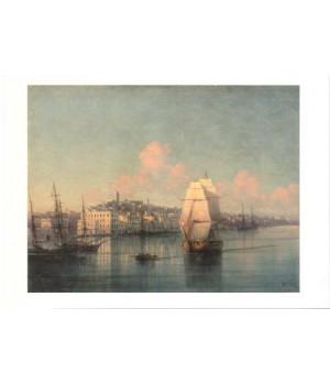 И.К. Айвазовский. Вид приморского города. 1877