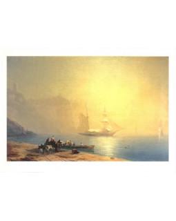 Утро на морском берегу. Судак. 1856