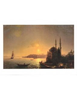 Вид Константинополя при лунном освещении. 1846