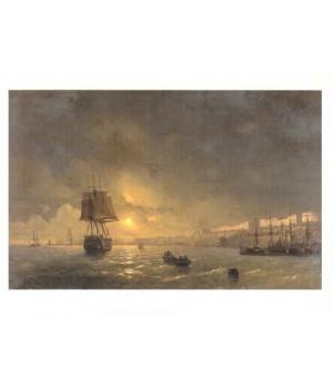 И.К. Айвазовский. Вид Одессы в лунную ночь. 1846