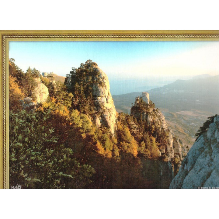 Демерджи. Вид на Алушту. Фотография на льняной бумаге
