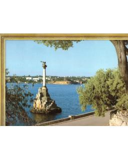 Севастополь. Памятник затопленным кораблям. Фотография на льняной бумаге
