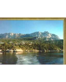 Ливадия. Вид на Ай-Петри. Фотография на льняной бумаге