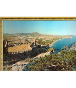 Судак. Вид с Генуэзской крепости. Фотография на льняной бумаге