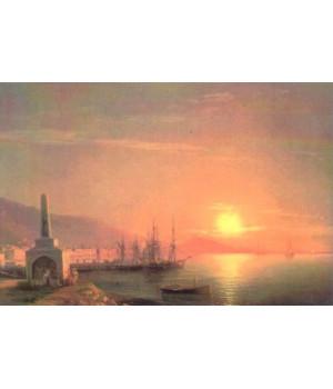 Восход солнца в Феодосии. Иван Айвазовский
