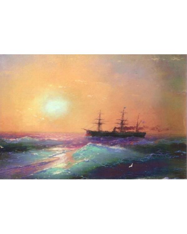 Закат на море. Иван Айвазовский