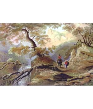Долина Узенбаш (исток реки Биюк-Узенбаш). Карло Боссоли
