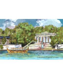 Севастополь. Графская пристань. Авторская открытка