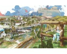Севастополь. Южная бухта. Авторская открытка