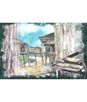 Севастополь, Проспект Нахимова. Авторская открытка