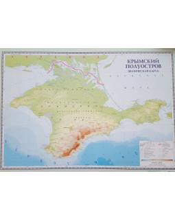 Крымский полуостров. Физическая карта. Настенная карта B2