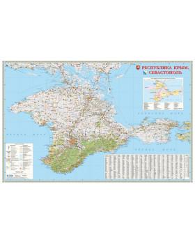 Карта настенная. Республика Крым. Севастополь