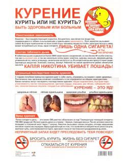Плакат А3. Курение. Курить или не курить? Быть здоровым или больным