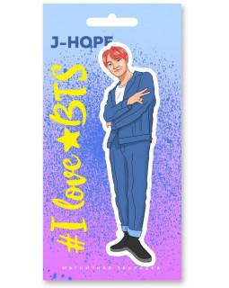 Фигурная магнитная закладка. BTS. J-hope