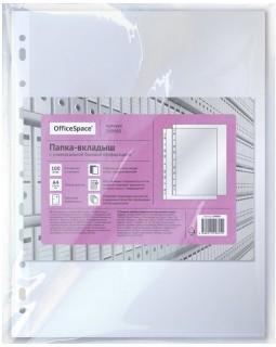 Папка-вкладыш с перфорацией OfficeSpace, А4, глянцевая, бюджет