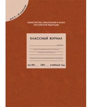 Классный журнал для 10-11 классов. ФГОС