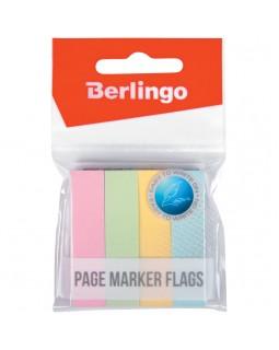 Флажки-закладки Berlingo 12*50мм, 100л*4 пастельных цвета
