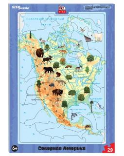 Развивающий пазл Северная Америка (большие) (IQ step)