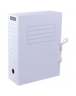 Папка архивная с завязками OfficeSpace, микрогофрокартон, 100мм, белый, до 900л.