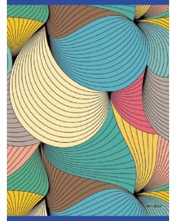 """Тетрадь для конспектов """"Разноцветная абстракция"""", А4, 80 листов, клетка"""