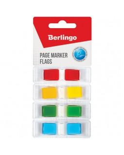 Флажки-закладки Berlingo, 45*12мм, 35л*4 неоновых цвета, в индивидуальных диспенсерах