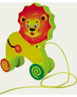 Лев. Деревянные игрушки-каталки
