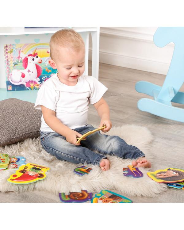 "Мягкие пазлы Baby puzzle ""Картинки"" 4 картинки, 16 эл."